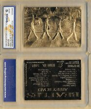 THE BEATLES 23Kt Gold Card Abbey Road London Album Music World Famous London UK