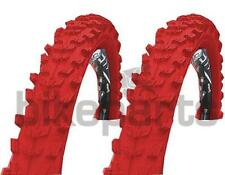 "2 Piezas Neumático de la Bicicleta Kenda 24"" MTB Goma 24x1, 95 (50-507) Rojo"