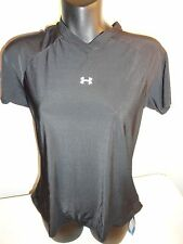 Under Armour 1084 Women's Short Sleeve T-shirt Loose Gear Black Medium