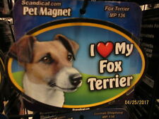 I Love My Fox Terrier 6 inch oval magnet for car or anything metal New
