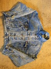 DISTRESSED LEVI'S ACID WASHED DENIM JACKET...SIZE  L...LOVE THE DISTRESSED LOOK!