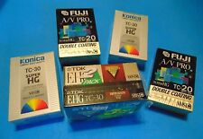 TC-30 TC-20 FUJI TDK KONICA 6 Compact VHS  VHS-C Camcorder Tapes  LOT of 6 NOS