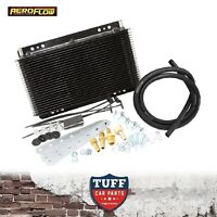 """Aeroflow Heavy Duty Transmission Oil Cooler Kit 11"""" x 6"""" x 1.5"""" with 3/8"""" Barb"""
