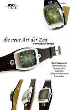 Unisex Diseño Reloj de DE LA CASA Osco OLIVAS VERDE ESFERA Muy hermoso NUEVO
