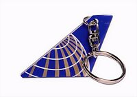 DARON UNITED AIRLINES TAIL KEYCHAIN TK2222-1 POST CONTINENTAL MERGER LIVERY. NEW