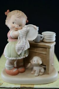 ENESCO MABEL LUCIE ATTWELL FIGURE THEM DISHES NEARLY DONE - BOXED (B)