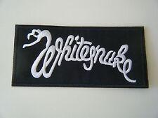 WHITESNAKE PATCH Embroidered Iron On Badge Classic Rock Band Logo NEW