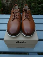 Clarks 'Trigen Walk' Tan Leather / UK7/8 / 41EU / Brown / Derby