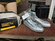 Travel Fox shoes Sz 12 Silver Back To The Future Micheal Jackson vintage 80/90s