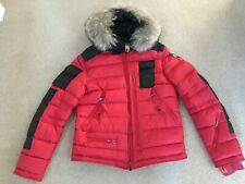 Parajumpers Skimaster Down Jacket. BNWT. Real Fur Hood Lining. Size Medium. Red