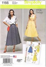 Vintage 50s Retro Blouse Skirt Bra Top Cross Back Sewing Pattern 6 8 10 12 14