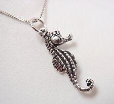 Small Seahorse Pendant 925 Sterling Silver Corona Sun Jewelry ocean sand beach