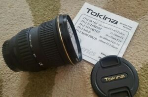 Tokina SD 12-24 F4 DX Nikon Ultrawide Lens 77mm Aspherical in Excellent Cond
