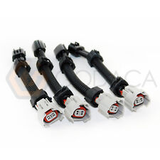 4x Female Bottom slot Subaru to male fuel injector for nissan Toyota Subaru