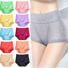 Women Cotton Lace High Waist Abdomen Breifs Underpants Panties Underwear