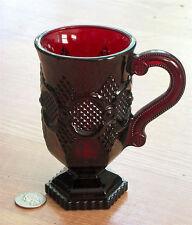 AVON glass 1876 CAPE COD lfooted MUG CUP Irish coffee RUBY RED 10 ounce FOSTORIA