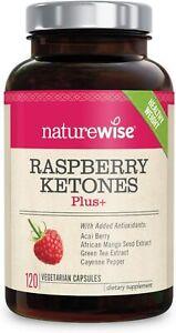 RASPBERRY KETONES Plus NatureWise Weight Loss Boost Energy & Metabolism Antioxid