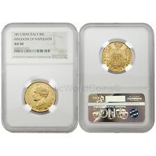 Italy 1811M Kingdom of Napoleon 40 Lire Gold NGC AU50