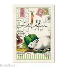 Michel Design Works Cotton Kitchen Tea Towel Bunnies Le Lapin - NEW