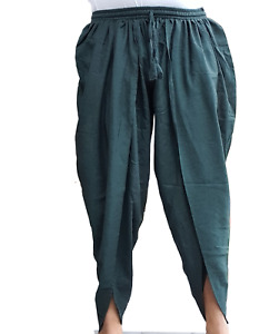 Dhoti-style Green Airy Yoga Fisherman men women Cotton Pants trousers