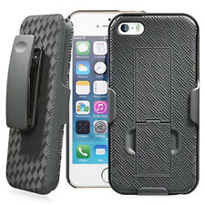 Iphone SE 5 5S Belt Clip Holster Combo  +Free Tempered Glass Screen Protector