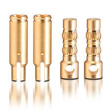 contactos chapados en Oro Dorado Conector Enchufe 6.0mm 2 pares partcore