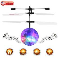 Flying Ball Mini Drone Toy RC Infrared Induction Helicopter Flashing LED Lights