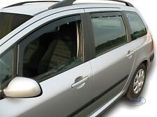 DPE26125 PEUGEOT 307 5 door Estate 2000-2008  wind deflectors 4pc TINTED HEKO