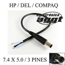 CABLE CON CONECTOR MACHO 3 PINES / 7.4 MM x 5.0 MM PARA HP / DELL / COMPAQ 30CM