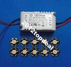 10X 3W Plant Grow Full Spectrum 380-840nm High Power LED + 6-10x3w driver