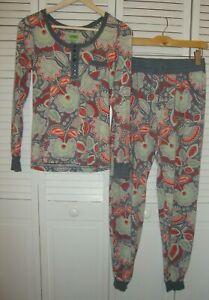 Vera Bradley Nomadic Floral Gray Women's Pajamas Set Pants Top Size Small S