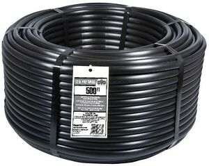 1/2 in. x 500 ft. Poly Drip Tubing Irrigation Sprinkler System Water Line Pipe