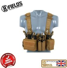 MILITARY ARMY SPECIAL OPS TACTICAL CHEST RIG VEST COYOTE AIRSOFT M51611053-BK