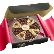 """7"""" Fathers Day Gourmet Belgian Chocolate Pizza Fudge Brownie Topping Gift"""