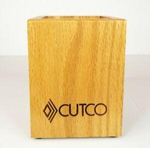 Cutco Kitchen Tool Holder Honey Oak