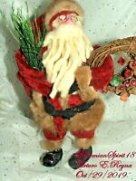 Arturo E.Reyna SANTA CLAUSE Figure FOLK ART PRIMITIVE Handmade One Of A Kind