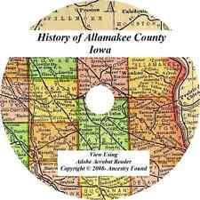 1913 History & Genealogy of ALLAMAKEE COUNTY IOWA biographies family IA