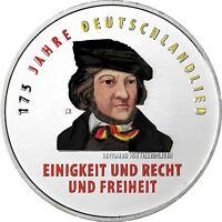 Deutschland 20 Euro 2016 Deutschlandlied Prägefrische Gedenkmünz in Farbe