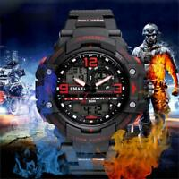 SMAEL Casual Men's Sports Watch Waterproof Plastic Strap Electronic Wristwatch