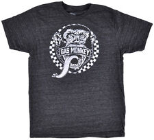 Gas Monkey Garage Face Logo T-Shirt Charcoal Gray Car Auto Authentic XS S NEW
