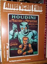 HOUDINI, magic of movies, Mankiewicz,Pollack AMERICAN FILM mag w/Pix April, 1978
