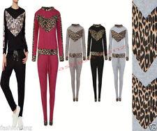 Polyester Leopard Hoodies & Sweats for Women