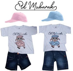 Eid Mubarak Tshirt Outfit Kinder Kleidung Bayram Mubarak Opferfest Eid Adha