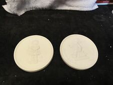 Hummel Pair Of Club Member Medallions 20 Years Celebrating - Excellent Condition