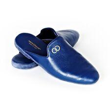 Loafers Mules homme en cuir de cerf  Bleu - Taille 42