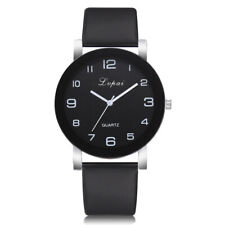 Women Girls Leather Strap Line Analog Quartz Ladies Wrist Watches Fashion Watch