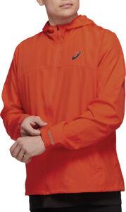 Asics Run Hood Mens Running Jacket - Orange
