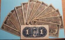 España colonial Alfonso XIII. 1 billete CIRCULADO de 1 Peso Banco Español 1896.
