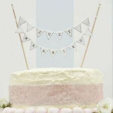 Ginger Ray Just Married Wedding Day Cake Bunting in Vintage Ivory Lace