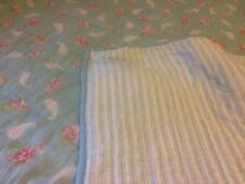 Pottery Barn Kids Blue Blanket Floral Paisley Comforter Twin Quilted Bedspread